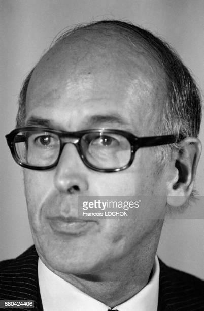 Portrait du président de la République Valéry Giscard d'Estaing le 17 octobre 1980 à Pékin Chine