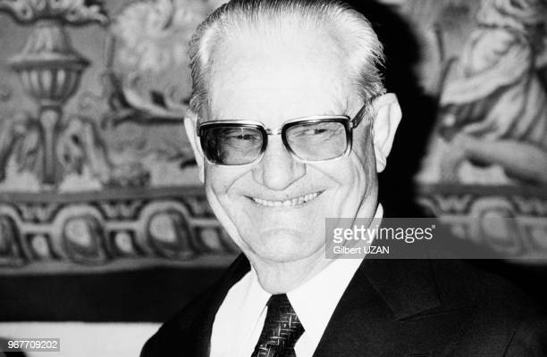 Portrait du Président du Brésil Ernesto Geisel invité à l'Hôtel de Ville de Paris le 27 avril 1976 Paris France