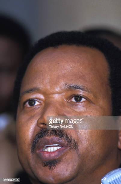 Portrait du président du Cameroun Paul Biya le 5 février 1985 à Paris, France.