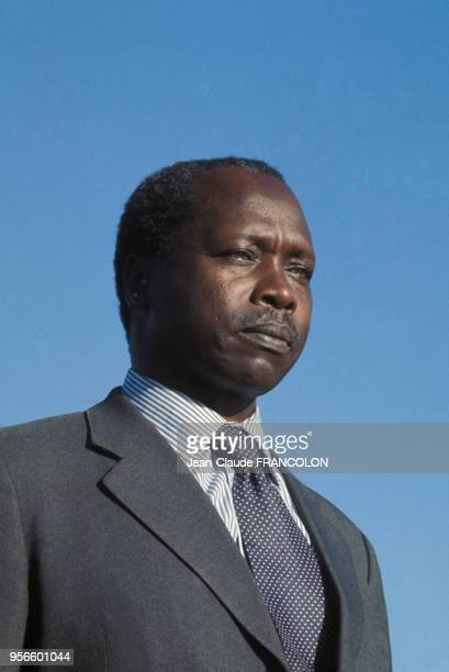 Portrait du président du Kenya Daniel arap Moi en 1978 en France