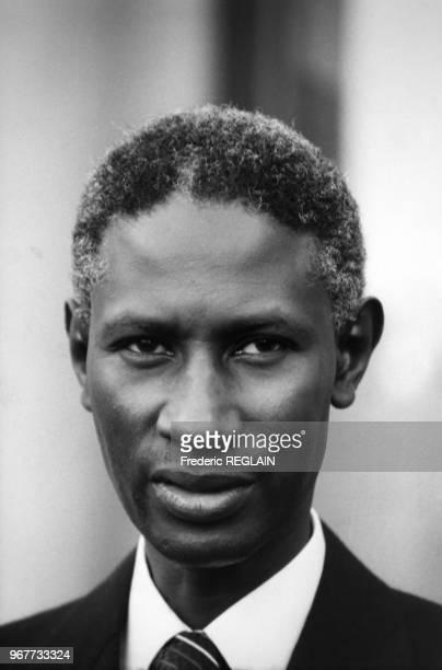 Portrait du président du Sénégal Abdou Diouf en visite officielle le 14 décembre 1984 à Paris France