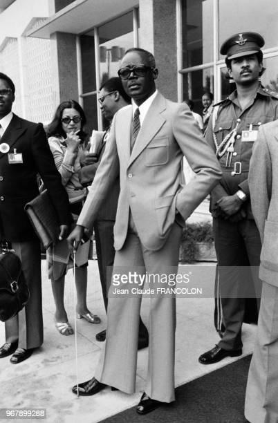 Portrait du président du Tchad Félix Malloum lors d'une réunion de l'OUA le 22 juillet 1978 à Khartoum Soudan