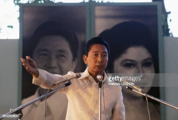 Portrait du Président Ferdinand Marcos en mars 1978 à Manille Philippines