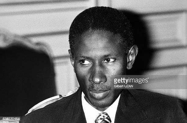 Portrait du président sénégalais Abdou Diouf en visite officielle en France reçu par le maire de la capitale le 29 mars 1979 à Paris France