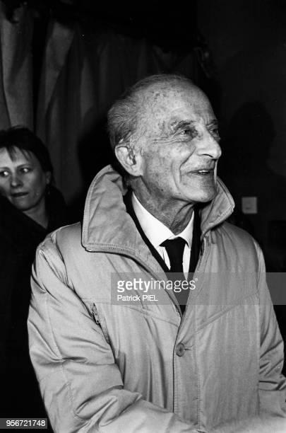 Portrait du réalisateur Fred Zinnemann au Festival du Film de Berlin en février 1986 à Berlin Allemagne