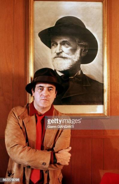 Portrait du réalisateur italien Bernardo Bertolucci à Parme en 1982 Italie