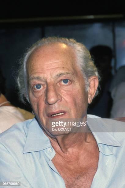Portrait du réalisateur Jules Dassin le 27 juillet 1985 à Athènes Grèce