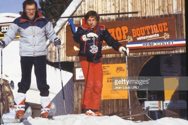 Portrait du réalisateur polonais Roman Polanski dans une station de sport d'hiver circa 1970 à Avoriaz France
