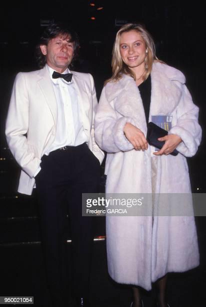 Portrait du réalisateur polonais Roman Polanski etd e l'actrice française Valérie Steiffen circa 1980