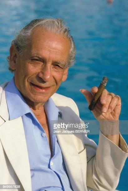 Portrait du réalisateur Samuel Fuller en août 1984 à Deauville France