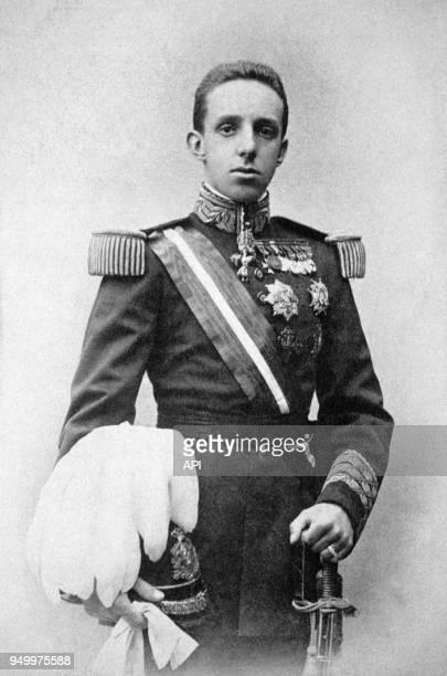 Portrait du Roi d'Espagne Alfonso XIII Espagne
