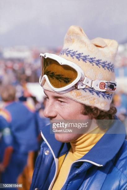 Portrait du skieur Ingemar Stenmark en 1976 à Innsbruck en Autriche