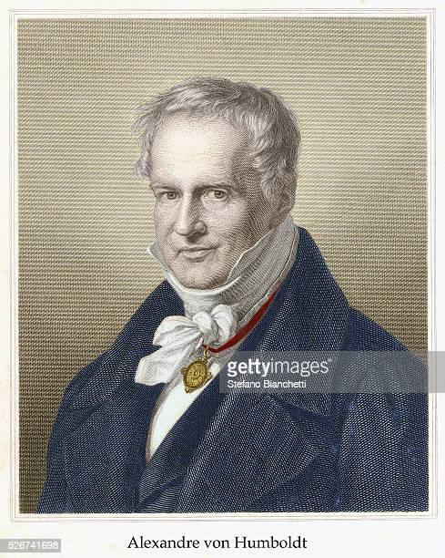 Portrait Engraving of Alexander von Humboldt