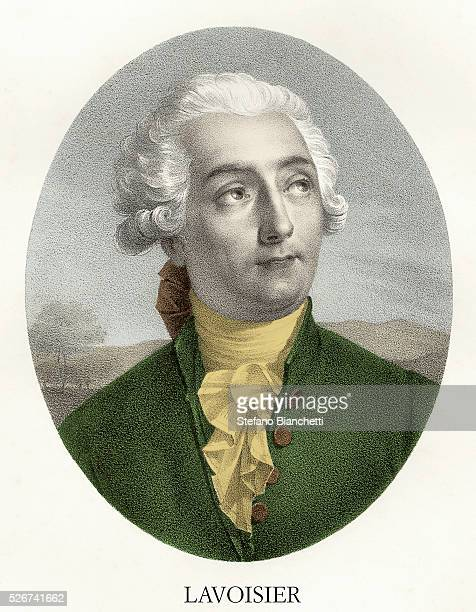 Portrait Engraving of Antoine Laurent de Lavoisier
