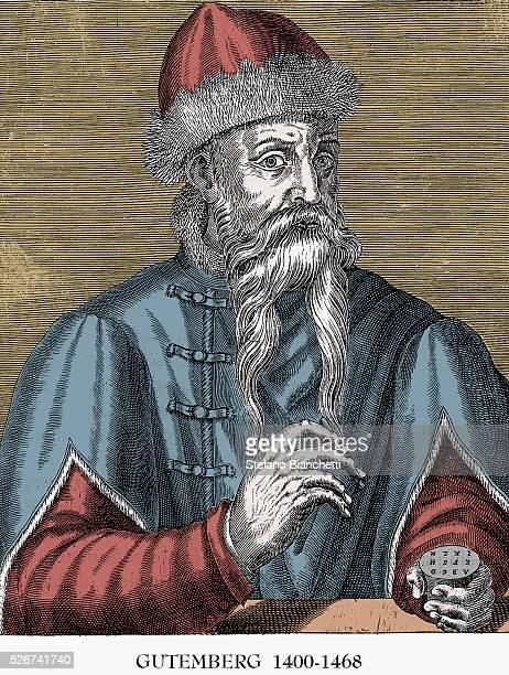 Portrait Engraving of Johannes Gutenberg