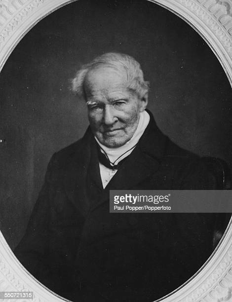 Portrait from a painting of German naturalist and explorer Alexander von Humboldt circa 1850