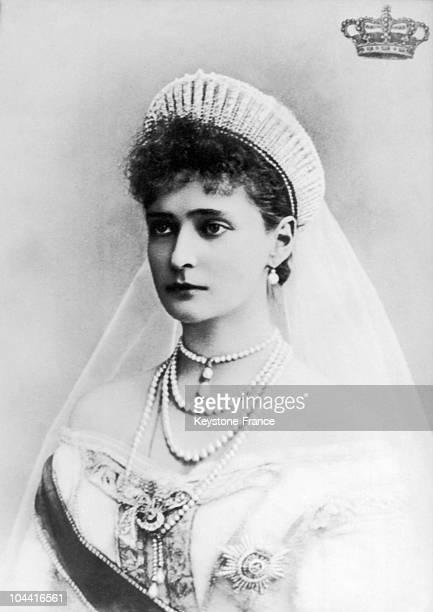 Portrait from around 1895 representing the Czarina ALEXANDRA FEODOROVNA Von HessenDarmstadt wife of the Russian Emperor NICOLAS II