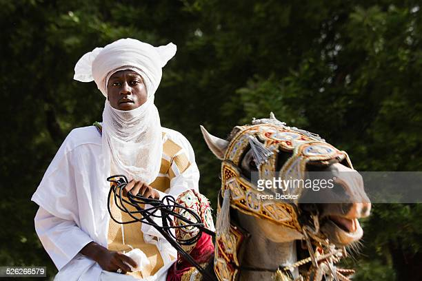 A portrait from the Durbar in Argungu Kebbi State Nigeria The Durbar during Sallah Celebration displays the rich northern Nigerian culture and...