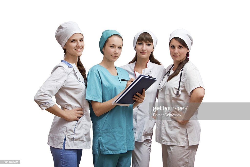 Portrait group of nurses : Stock Photo