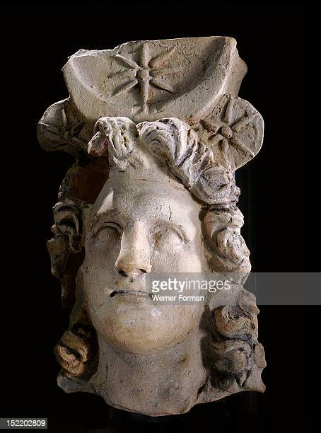 Portrait head of Alexander the Great depicted as the sun god Alexander was recognized by the oracle of the god Amun Ra in the Siwa Oasis as the gods...
