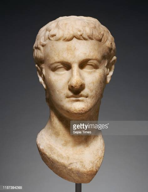 Portrait Head of Caligula Unknown Asia Minor about 40 Marble Object H 43 x W 215 x D 25 cm