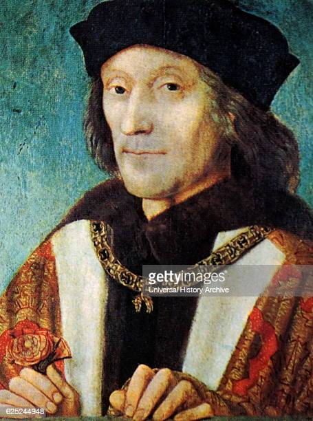 Portrait Henry VII of England the first Monarch of the House of Tudor Dated 15th Century