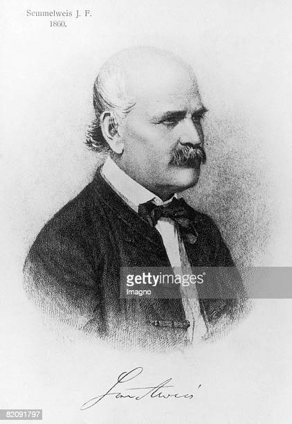 Portrait Ignaz Philipp Semmelweis Engraving by E Dopy 1860 [Portrt Ignaz Philipp Semmelweis Stich von E Dopy 1860]