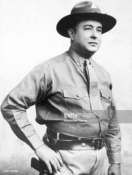 Portrait In June 1936 Of General Anastasio Somoza , One Year Before His Coming To Power In Nicaragua. The Head Of The National Guard, He Had Sandino...