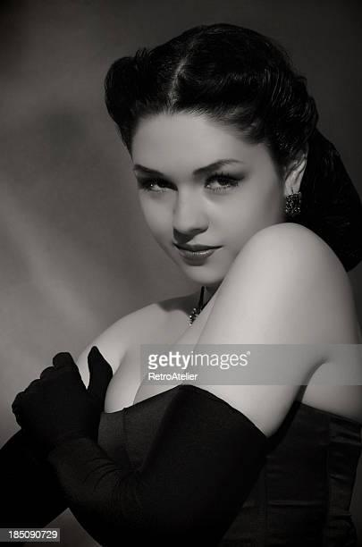 Portrait in Noir style.Diva