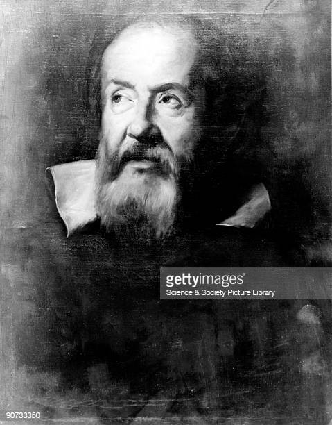 Portrait in oils by A S Zileri after an original by Sustermans of 1635 in the Uffizi Gallery Florence Galileo Galilei one of the greatest scientists...
