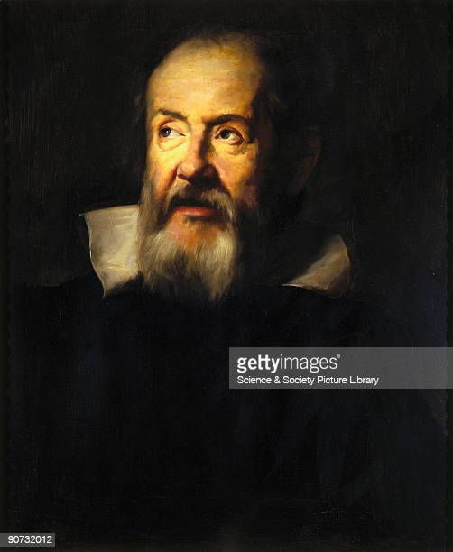 Portrait in oils by A S Zileri made in 1884 after an original by Sustermans of 1635 in the Uffizi Gallery Florence Galileo Galilei one of the...