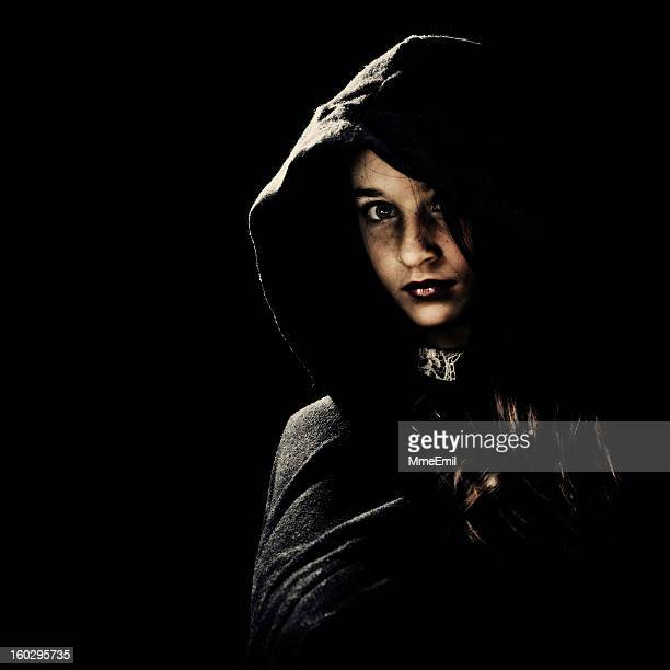 portrait in the dark - gothic stock pictures, royalty-free photos & images