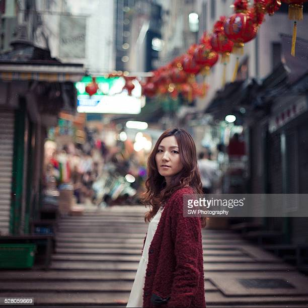 Portrait in the street of HongKong