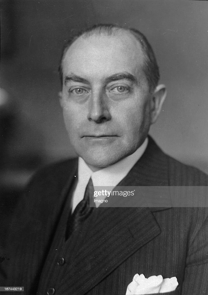 Portrait Julius Curtius. Photograph. 1931. (Photo by Imagno/Getty Images) Portrait des deutschen Politikers Julius Curtius. Photographie. 1931.
