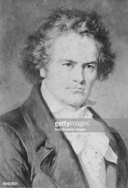 Portrait Ludwig van Beethoven Around 1890 [Portrait von Ludwig van Beethoven Um 1890]