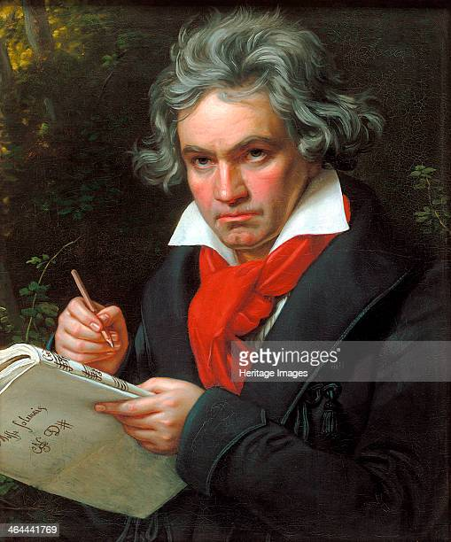 Portrait Ludwig van Beethoven when composing the Missa Solemnis' 1820 Stieler Joseph Karl Found in the collection of the BeethovenHaus Bonn