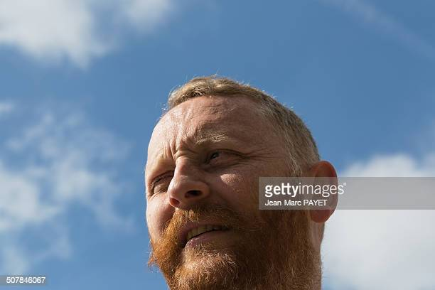 Portrait man with a red beard