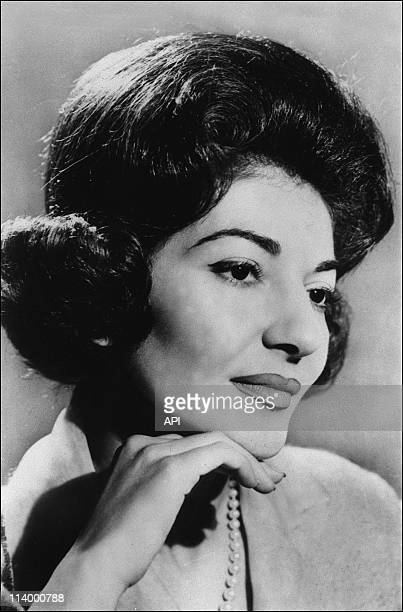 Portrait Maria Callas In France On January 01 1987