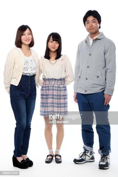 portrait o Japanese boy and girls