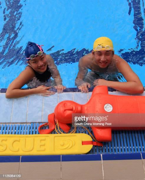 Portrait of 17 year old lifesaving athlete's Fanny Chung Kwokhoi and Mak Chunyin 17JUN12