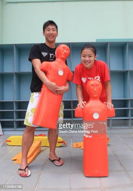 Portrait of 17 year old lifesaving athlete's Mak Chunyin and Fanny Chung Kwokhoi 17JUN12