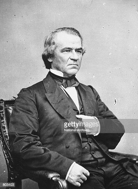 Portrait of 17th United States President Andrew Johnson.