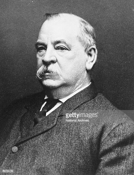 Portrait of 24th United States President Grover Cleveland