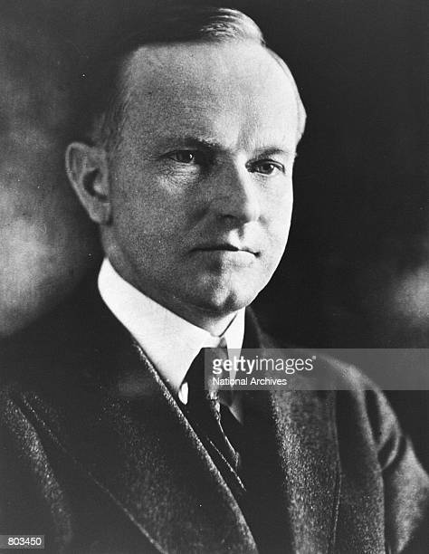 Portrait of 30th United States President Calvin Coolidge