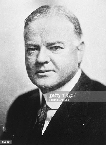 Portrait of 31st United States President Herbert Hoover.