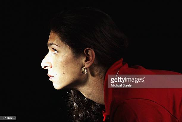 Portrait of 400 metre runner Ana Guevara of Mexico in a studio feature held during the IAAF Gala weekend held on November 15 2002 at the Grand Hotel...