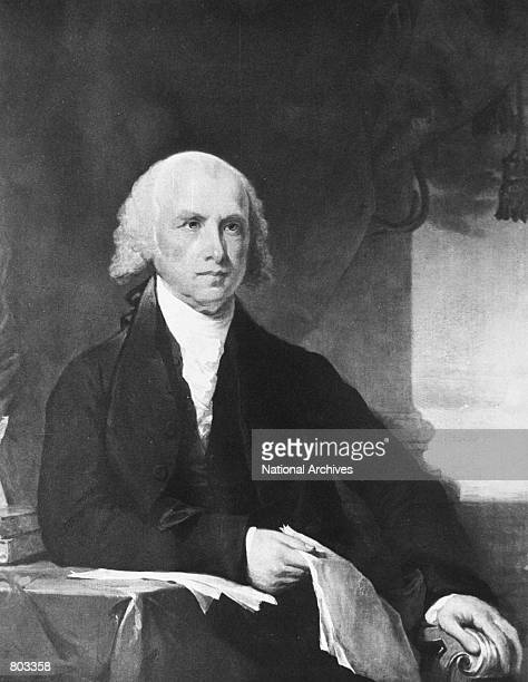 Portrait of 4th United States President James Madison