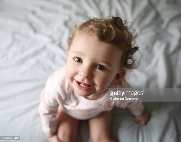 Portrait of a 1 year old baby girl