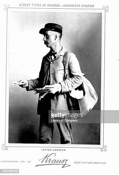 Portrait of a 19th century mail carrier