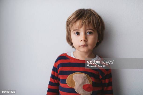 portrait of a 2 year old boy - small faces stock pictures, royalty-free photos & images
